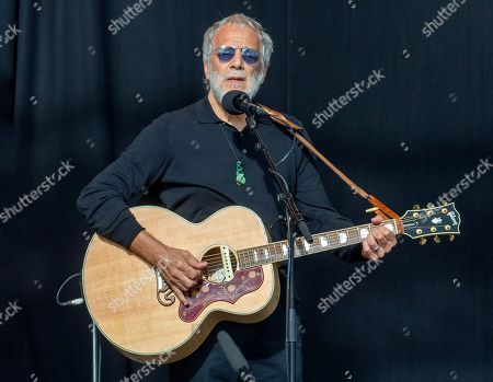 Yusuf Islam (Cat Stevens) performs as an estimated 20 thousand people attend the National Remembrance Service to those who were tragically killed in the Al Noor Mosque and the Linwood Islamic Centre shooting at Hagley Park, in Christchurch, New Zealand, 29 March 2019.