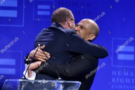 Chad Griffin and Cory Booker