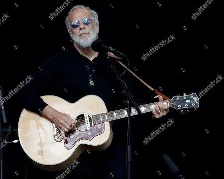 Yusuf Islam/Cat Stevens sings during a national remembrance service in Hagley Park for the victims of the March 15 mosque terrorist attack in Christchurch, New Zealand