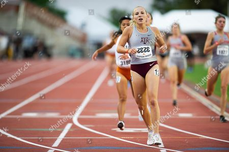 Hannah Campbell #3232 with Texas A&M in action Women 1500 Meter Run Section B Univ at The Clyde Littlefield Texas Relays, Mike A. Myers Stadium. Austin, Texas