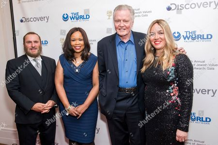 Dana White, Jon Voight, Shmuley Boteach, Debbie Boteach. Rabbi Shmuley Boteach, from left, Dana White, Jon Voight and Debbie Boteach attend the Champions of Jewish Values International Awards gala at Carnegie Hall, in New York