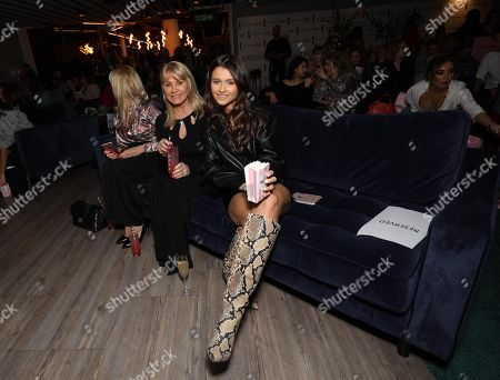 (L-R)Natalya Wright and mother Carol Wright. attends an exclusive screening event in London for the new season of Keeping Up with the Kardashians, coming to E! and hayu this April.
