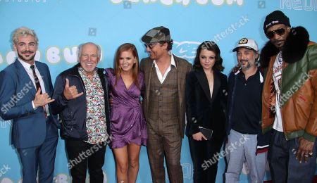 Zac Efron, Jimmy Buffett, Isla Fisher, Matthew McConaughey, Stefania LaVie Owen, Harmony Korine and Snoop Dogg