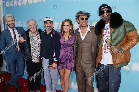 Zac Efron, Jimmy Buffett, Harmony Korine, Isla Fisher, Matthew McConaughey and Snoop Dogg