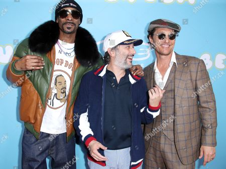 Stock Picture of Snoop Dogg, Harmony Korine and Matthew McConaughey