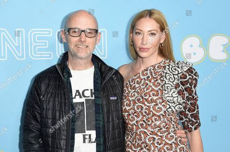 "Moby, Lucy Walker. Moby and Lucy Walker attend the LA Premiere of ""The Beach Bum"" at ArcLight Hollywood, in Los Angeles"