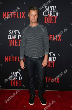 """Stock Picture of Eric Nenninger arrives at the LA Premiere of """"Santa Clarita Diet"""" Season 3 at the Hollywood American Legion Post 43, in Los Angeles"""