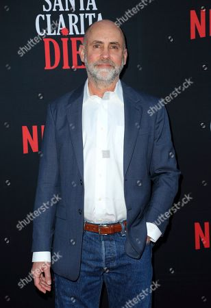 """Stock Picture of Victor Fresco arrives at the LA Premiere of """"Santa Clarita Diet"""" Season 3 at the Hollywood American Legion Post 43, in Los Angeles"""