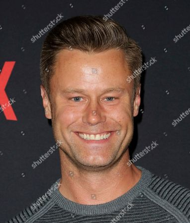 """Eric Nenninger arrives at the LA Premiere of """"Santa Clarita Diet"""" Season 3 at the Hollywood American Legion Post 43, in Los Angeles"""