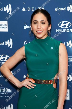 Gabrielle Ruiz arrives during the 30th Annual GLAAD Media Awards at the Beverly Hilton Hotel in Beverly Hills, California, USA, 28 March 2019. The 30th annual GLAAD Media Awards, presented by the Gay and Lesbian Alliance Against Defamation recognize and honor media for their fair, accurate and inclusive representations of the LGBTQ (lesbian, gay, bisexual, transgender and queer) community and the issues that affect their lives.