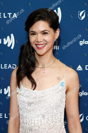 Lilan Bowden arrives during the 30th Annual GLAAD Media Awards at the Beverly Hilton Hotel in Beverly Hills, California, USA, 28 March 2019. The 30th annual GLAAD Media Awards, presented by the Gay and Lesbian Alliance Against Defamation recognize and honor media for their fair, accurate and inclusive representations of the LGBTQ (lesbian, gay, bisexual, transgender and queer) community and the issues that affect their lives.