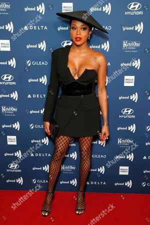 Amiyah Scott arrives during the 30th Annual GLAAD Media Awards at the Beverly Hilton Hotel in Beverly Hills, California, USA, 28 March 2019. The 30th annual GLAAD Media Awards, presented by the Gay and Lesbian Alliance Against Defamation recognize and honor media for their fair, accurate and inclusive representations of the LGBTQ (lesbian, gay, bisexual, transgender and queer) community and the issues that affect their lives.