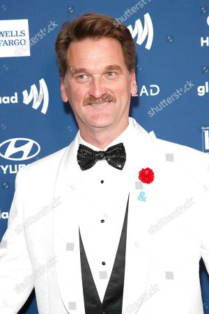 Stock Photo of Pete Gardner arrives during the 30th Annual GLAAD Media Awards at the Beverly Hilton Hotel in Beverly Hills, California, USA, 28 March 2019. The 30th annual GLAAD Media Awards, presented by the Gay and Lesbian Alliance Against Defamation recognize and honor media for their fair, accurate and inclusive representations of the LGBTQ (lesbian, gay, bisexual, transgender and queer) community and the issues that affect their lives.