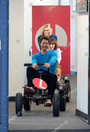 Lorraine Kelly, Jenni Falconer and Howard Donald