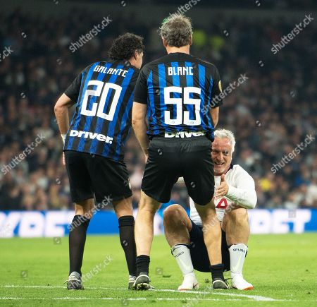 David Ginola Fabio Galante and Laurent Blanc