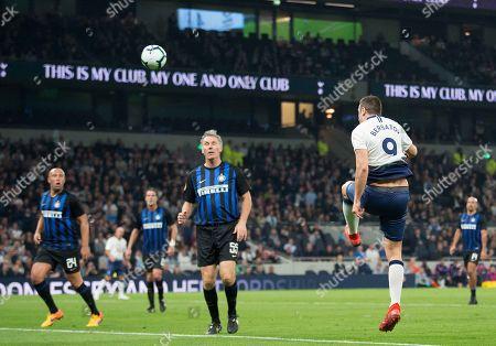 Dimitar Berbatov fires in his goal