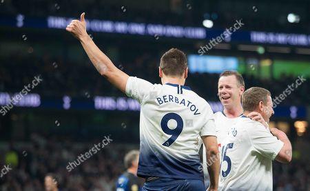 Dimitar Berbatov celebrates