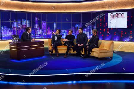 Jonathan Ross, Shane Filan, Nicky Byrne, Mark Feehily, Kian Egan