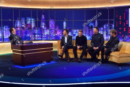 Stock Picture of Jonathan Ross, Shane Filan, Nicky Byrne, Mark Feehily, Kian Egan