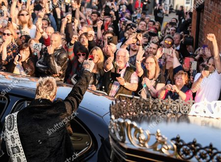 Editorial photo of The Funeral of Keith Flint, St Mary's Church, Bocking, Braintree, Essex, UK - 29 Mar 2019