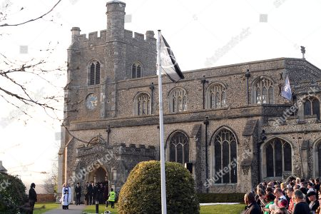 Editorial image of The Funeral of Keith Flint, St Mary's Church, Bocking, Braintree, Essex, UK - 29 Mar 2019