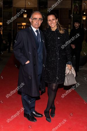 Giancarlo Leone with wife