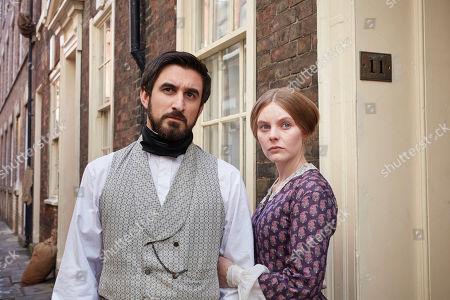 Ferdinand Kingsley as Francatelli and Nell Hudson as Skerrett.