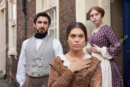 Ferdinand Kingsley as Francatelli, Sabrina Bartlett as Abigail and Nell Hudson as Skerrett.