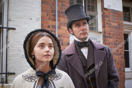 Jenna Coleman as Queen Victoria and Sam Swainsbury as Doctor Snow.