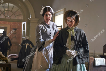 Jenna Coleman as Queen Victoria and Laura Morgan as Florence Nightingale.