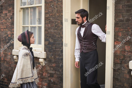Stock Image of Jenna Coleman as Queen Victoria and Ferdinand Kingsley as Francatelli.