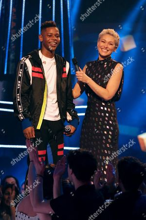 Stock Photo of Donel Mangena and Emma Willis