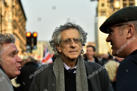 Piers Corbyn. Leave supporters around Westminster on what was supposed to be the day the UK left the EU.