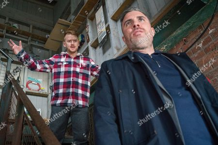 Ep 9730 & Ep 9731 Sunday 31st March 2019 Handing the cash over to Rick, as played by Greg Wood, Gary Windass, as played by Mikey North, is hopeful he's off the hook but Rick tells Gary that from now on the works for him!
