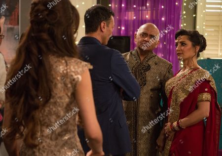 Ep 8441 Tuesday 9th April 2019 - 2nd Ep At the party, Jai Sharma's, as played by Chris Bisson, attempts to speak to Rishi Sharma, as played by Bhasker Patel, are thwarted, and as Rishi starts a speech about his love for Manpreet, as played by Rebecca Sarker, Jai's far from impressed. As the speech eventually ends, an angry Jai tells him what he found on Manpreet's computer...