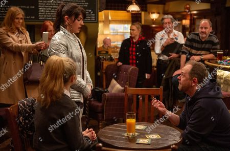 Ep 8434 Tuesday 2nd April 2019 Dan proposes to Kerry, but is it to late to save thei relationship? With Dan Spencer, as played by Liam Fox; Kerry Wyatt, as played by Laura Norton, Bernice Blackstock, as played by Samantha Giles, Nicola King, as played by Nicola Wheeler, Amy Wyatt, as played by Natalie Ann Jamieson, Rodney Blackstock, as played by Patrick Mower, Jimmy King, as played by Nick Miles.