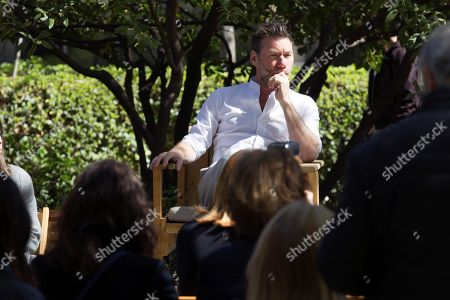 British artist Mat Collishaw poses for photographers during the presentation of his first solo exhibition in Spain 'Dialogues' at the Botanical Garden in Madrid, Spain, 29 March 2019. The display will run from 30 March to 24 May 2019.