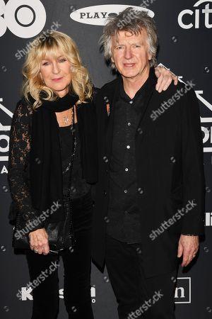 Stock Photo of Christine McVie and Neil Finn