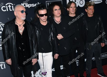 Reeves Gabrels, Simon Gallup, Robert Smith, Roger O'Donnell and Jason Cooper, The Cure