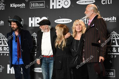 Stock Photo of Mike Campbell, John McVie, Stevie Nicks, Christine McVie and Mick Fleetwood, Fleetwood Mac
