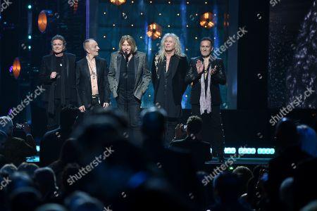 Rick Allen, Phil Collen, Joe Elliott, Rick Savage and Vivian Campbell, Def Leppard