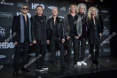 Vivian Campbell, Rick Allen, Phil Collen and Joe Elliott, Def Leppard, Brian May and Rick Savage, Def Leppard