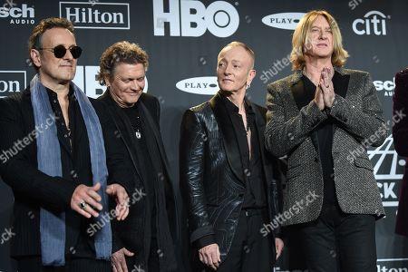 Vivian Campbell, Rick Allen, Phil Collen and Joe Elliott, Def Leppard