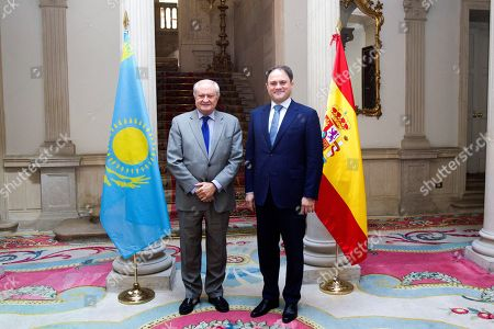 Spanish Foreign Affairs State Secretary Fernando Valenzuela (L) meets the Deputy Minister of Foreign Affairs of the Republic of Kazakhstan Roman Vassilenko (R) during their meeting in Madrid, Spain, 29 March 2019.