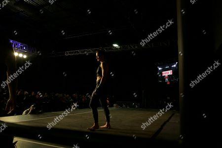 Karolina Kowalkiewicz, No. 6 UFC women's strawweight, works out in Philadelphia. She is scheduled to fight No. 8 UFC women's strawweight Michelle Waterson on March 30 in Philadelphia