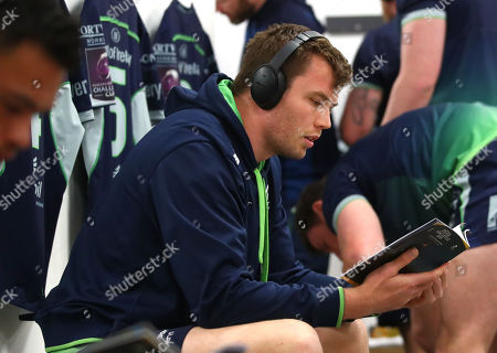 Sale Sharks vs Connacht. Connacht's James Cannon before the game