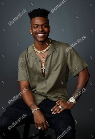 """Aubrey Joseph, a cast member in the Freeform television series """"Cloak & Dagger,"""" poses for a portrait during the 2019 WonderCon at Anaheim Convention Center, in Anaheim, Calif"""
