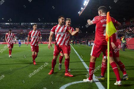Cristhian Stuani of Girona FC celebrates his goal (1-0)