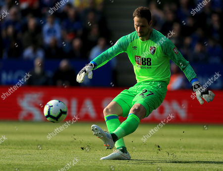 Asmir Begovic of AFC Bournemouth clears his lines