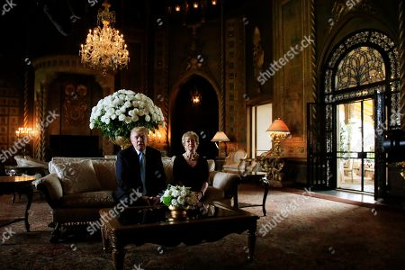 Stock Picture of Donald Trump, Linda McMahon. President Donald Trump announces the resignation of Small Business Administration Administrator Linda McMahon during a news conference at his Mar-a-Lago estate in Palm Beach, Fla., . She is joining the campaign to help with Trump's re-election effort